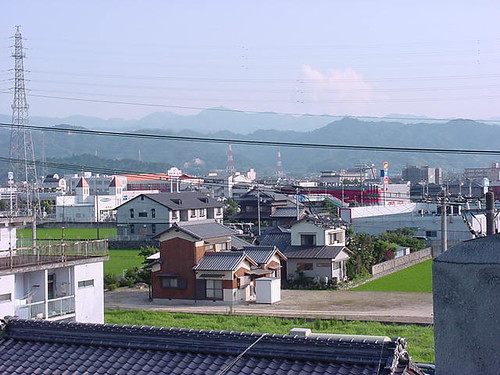 MD Imabari from my 4th flr apt 1 (1997) - mountain view