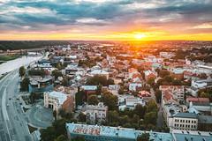 Sunset   Kaunas aerial