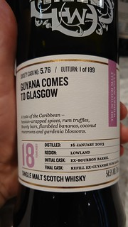SMWS 5.76 - Guyana comes to Glasgow