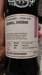SMWS 94.15 - Farewell, Cheddar