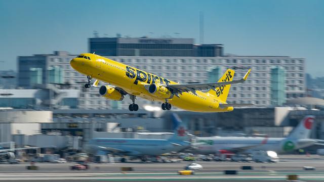 Spirit Airbus Departs LAX