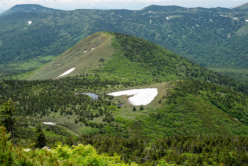 八甲田山 ハート形の残雪
