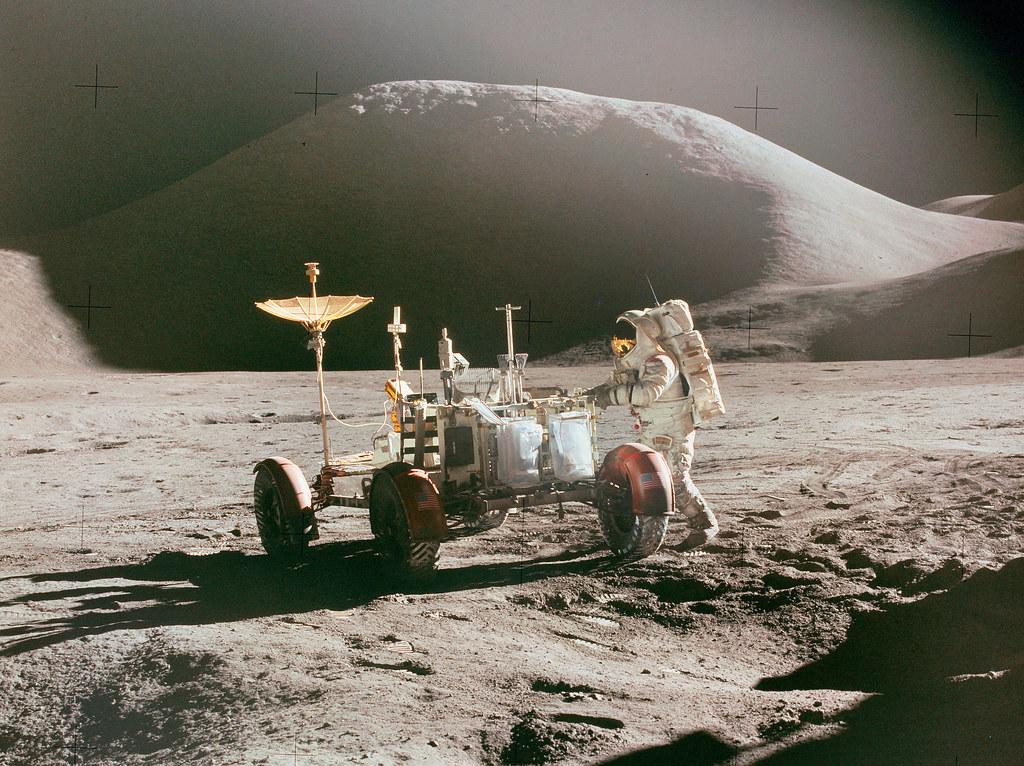 Apollo 15 - Jim Irwin at the LRV