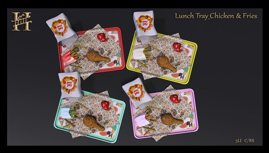 Chef HILL – Chicken & Fries Lunch Trays 😋