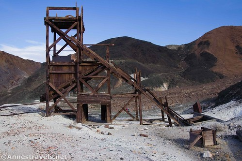 Ore riser at the middle claim of the Saratoga Mine, Death Valley National Park, California