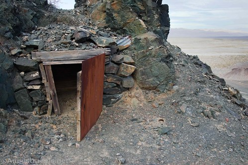 The dynamite shack at the Saratoga Mine, Death Valley National Park, California