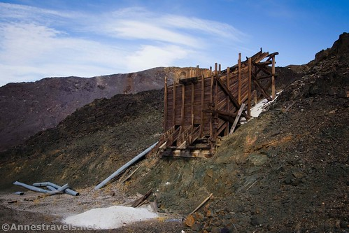 The ore bin at the northern claim of the Saratoga Mine, Death Valley National Park, California