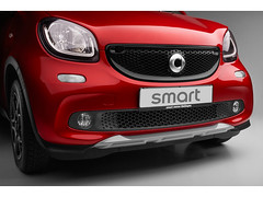 OEM Genuine Smart ForFour(453) BRABUS CROSSTOWN OPTICAL UNDERRIDE PROTECTION GUARD, SILVER FRONT
