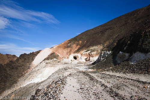 The entrance to the talc mine at the top of the road, Saratoga Mine, Death Valley National Park, California