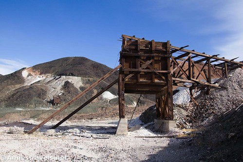 One of the old ore bins at the Saratoga Mine, Death Valley National Park, California