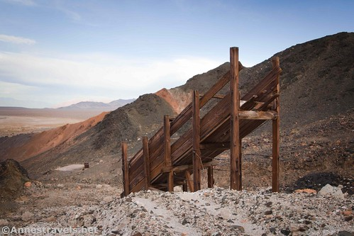 The ore chute at the southern claim, Saratoga Mine, Death Valley National Park, California