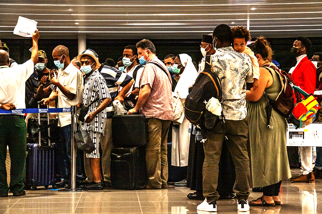 Passengers flying to Addis Ababa on 8-4-21--Rome