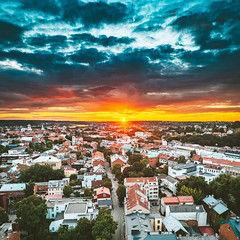 Sunset   Kaunas aerial #215/365