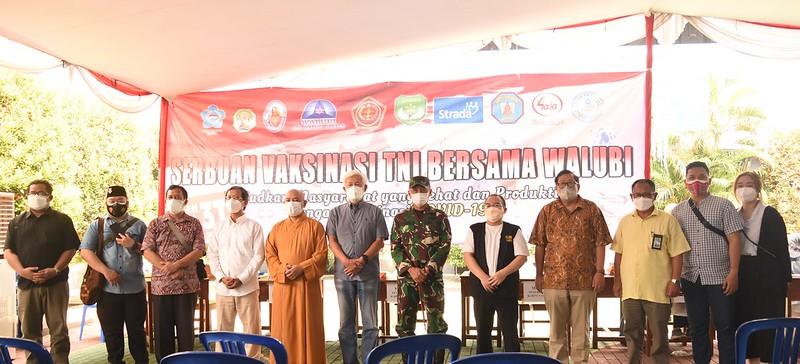 Serbuan Vaksinasi di Kompleks Strada Tangerang