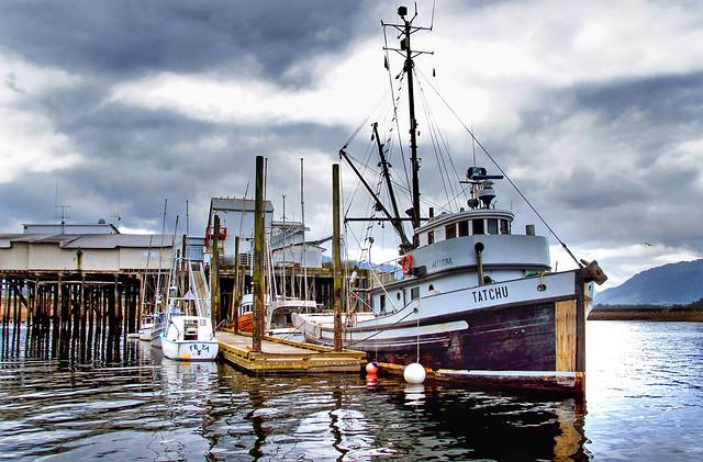 Fishing boats Hoonah Alaska.
