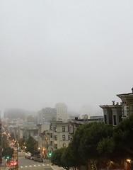 San Francisco disappears into the fog