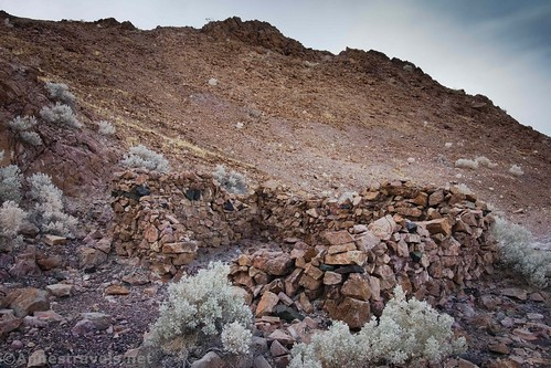 The remains of an old health spa near Saratoga Springs, Death Valley National Park, California