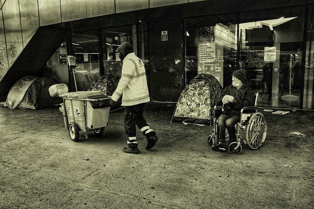 Trash like me. Disabled and Homeless in Whitechapel, London