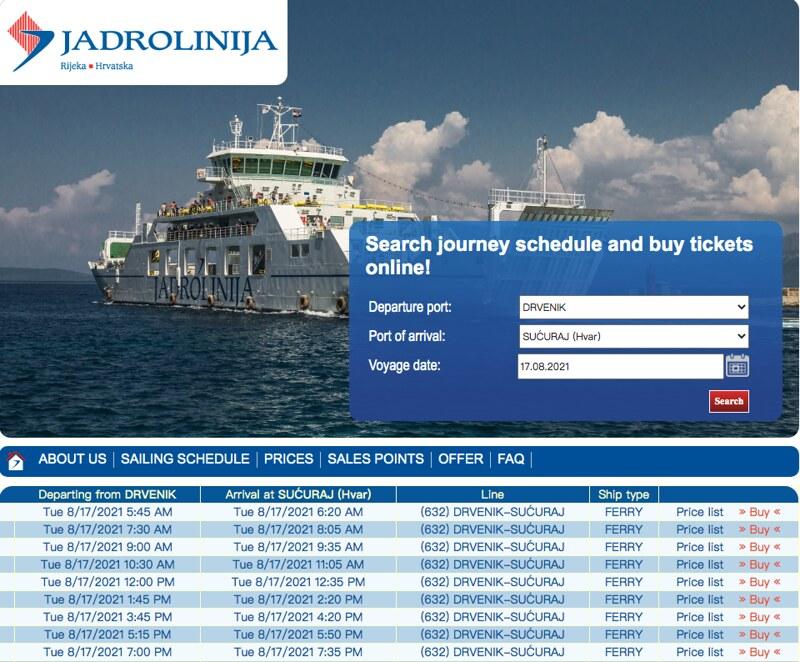 船公司官方網可以查詢及訂閱船票
