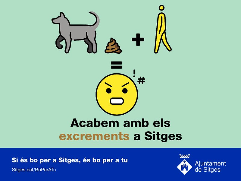Campaña en Sitges para acabar con los excrementos de perros en la calle