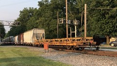 8/4/21 19: 58 80 degrees at CN Charlotte as CN 8012 and CN 5419 power Train 500 over the ChS junction switch and past the old GTW depot. Thanks for the horn taps. Full 1:49 video: