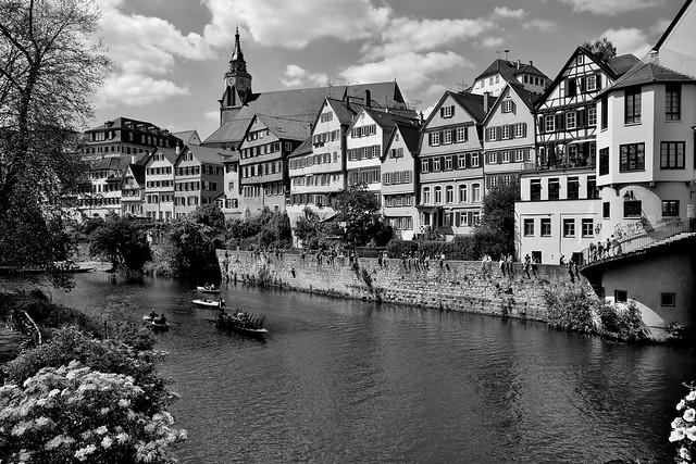 Germany, Deutschland , Am Neckar im historischen Tübingen,
