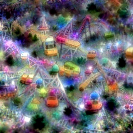 'an amusement park' CLIP RGB Optimization
