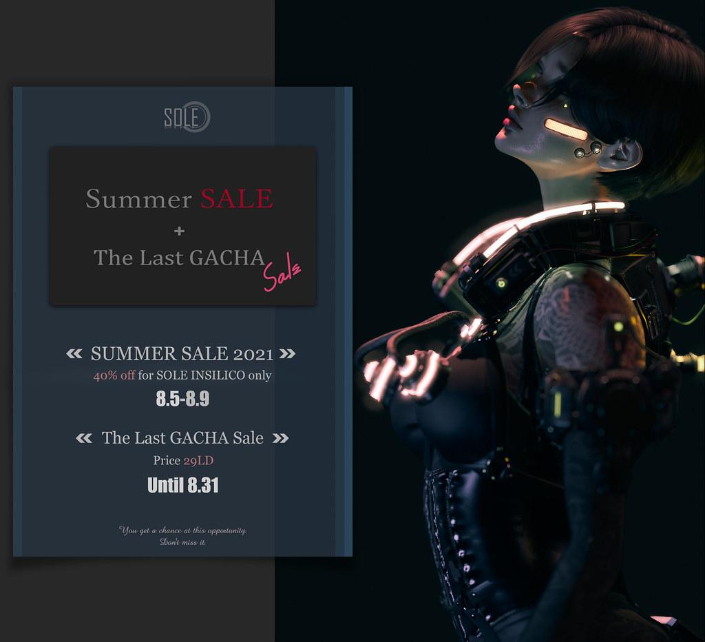 Summer Sale 2021 & LAST GACHA Sale