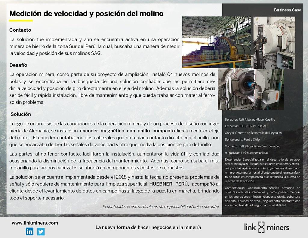 Medición de velocidad y posicion de molino-Hubner Perú