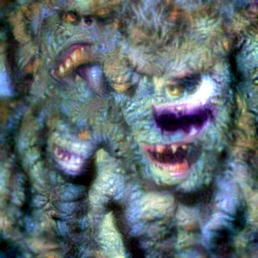 'a movie monster' CLIP RGB Optimization