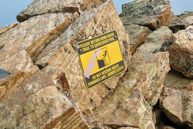 Fairview Mountain Summit Hike - A good sign to obey!