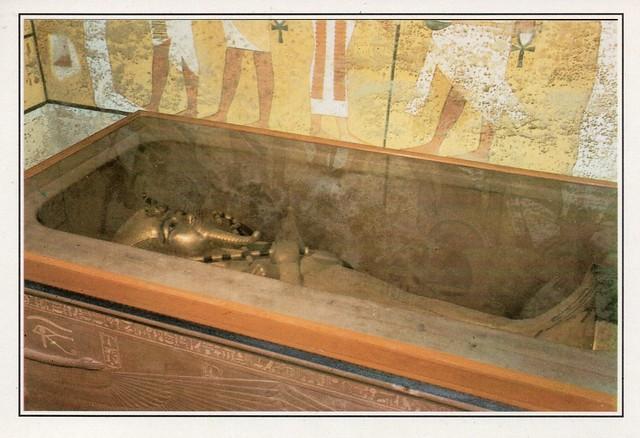 Egypt - Luxor (Valley of the Kings. King Tutankhamun's coffine).