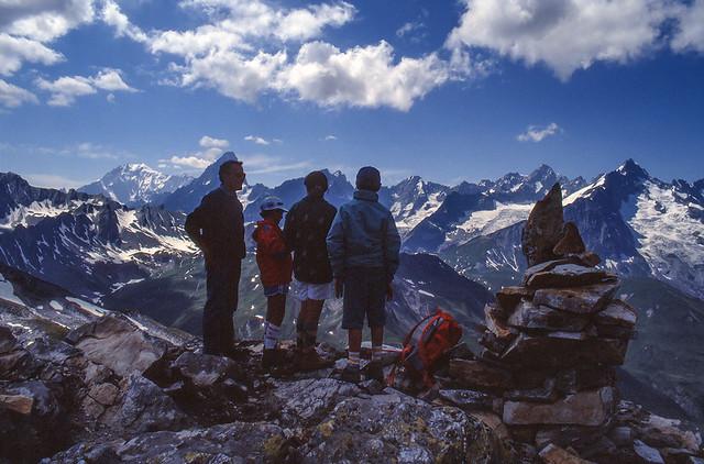 La Catena del Monte Bianco (agosto 1991)