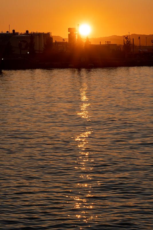 青森の夕日