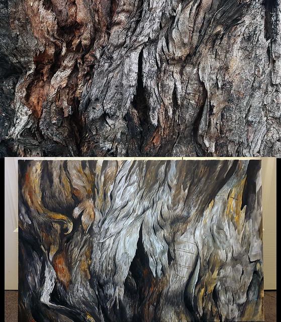 Cataclysm, acrylic on canvas