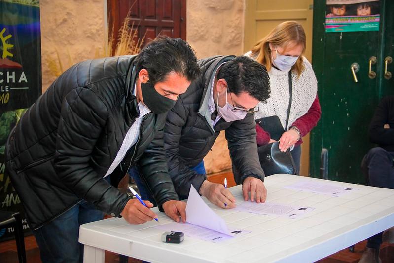 Firma de Convenio con Paul Caillou, Comisionado Comunal de Amaicha | AGO2021