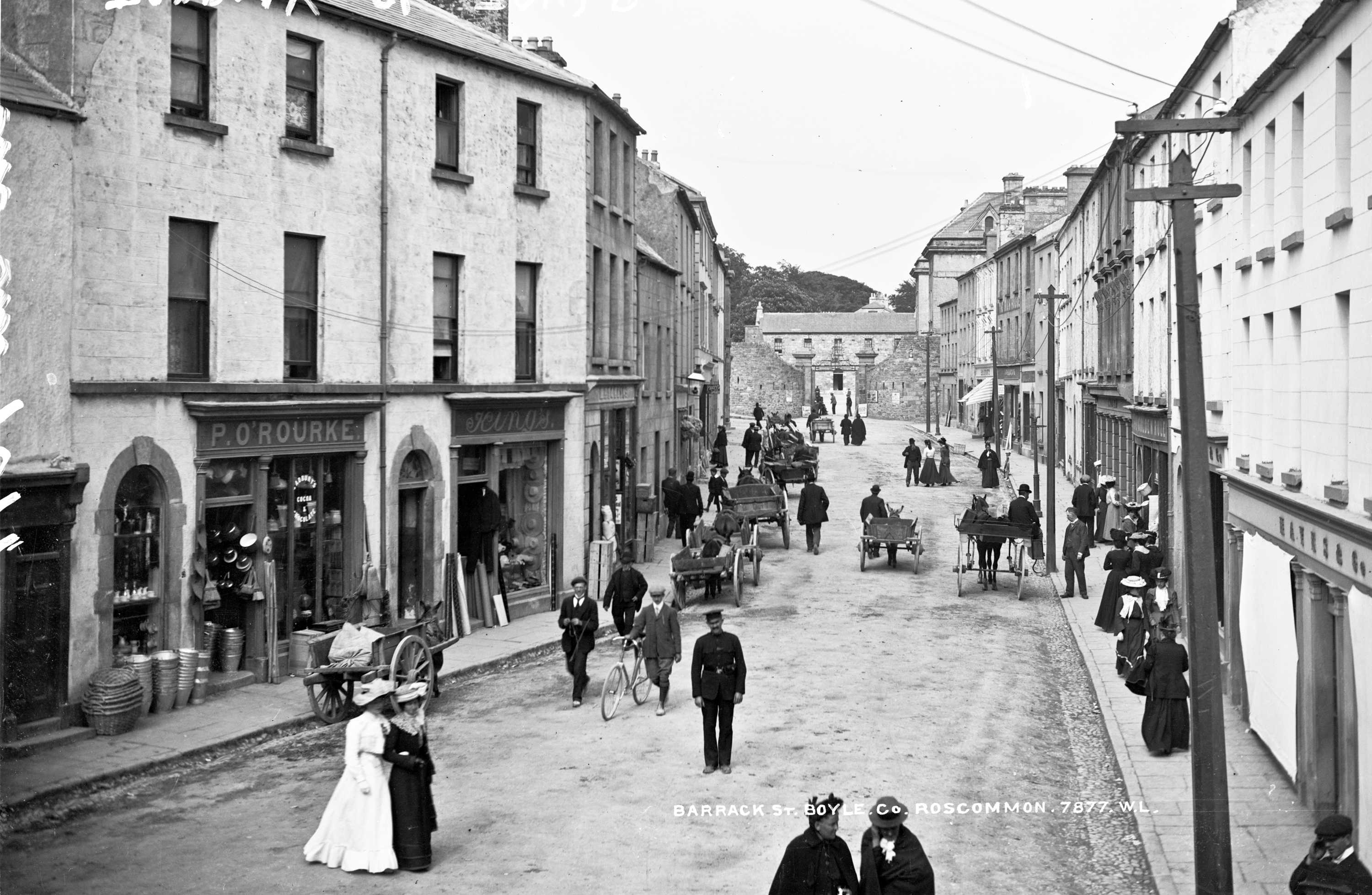 Babes, bikes and buckets on Barrack Street in Boyle!
