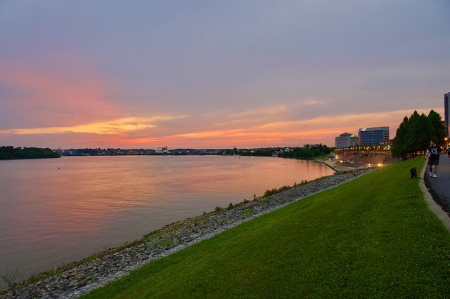 Sunset over Ohio River