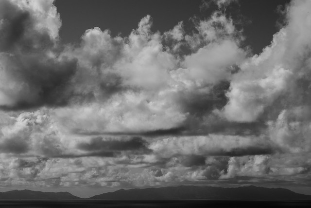 Clouds and Sea BW 2-0516