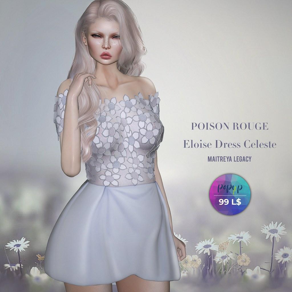 POISON ROUGE Eloise Dress Celeste 99L$ at Pop- Up Event