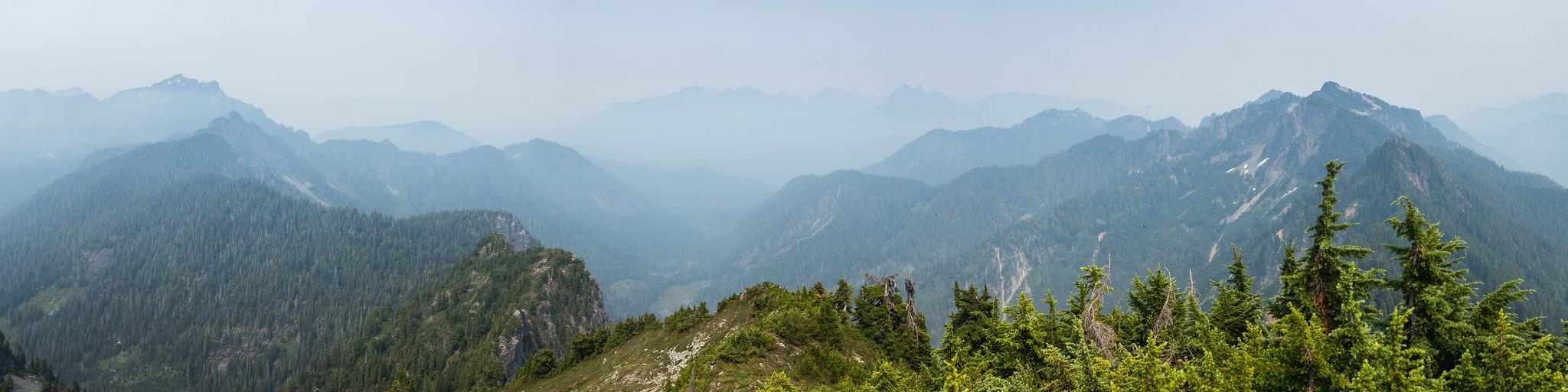 Mount Index to Mount Rudderham panoramic view