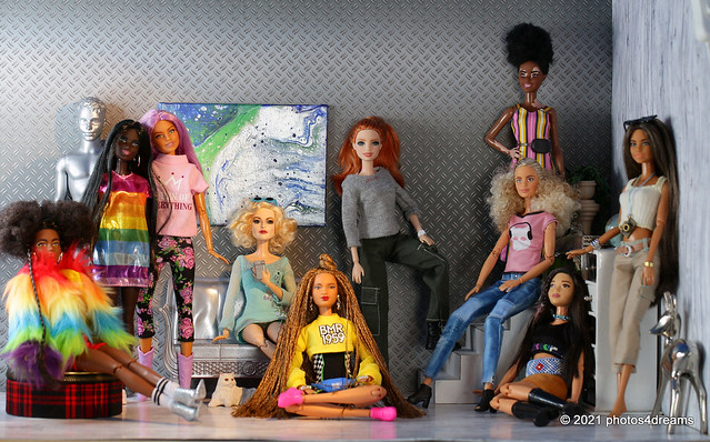B is for Barbies ... all sorts of Barbies...