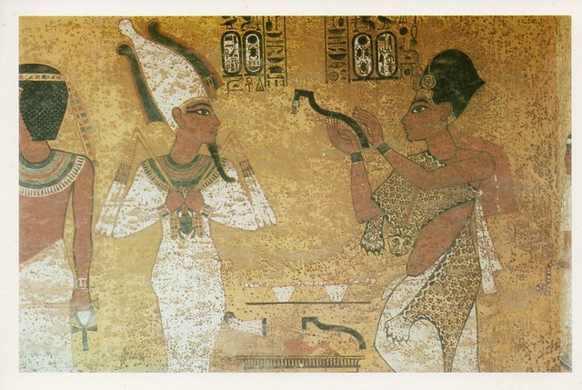 Egypt - Luxor (Tomb of Tutankhamun. Burial chamber. Figure of Tutankhamun).
