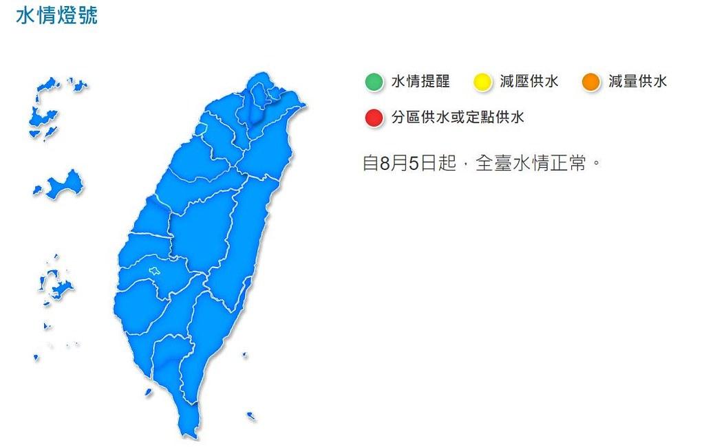 經過長達324的旱災,水利署宣布5日起全國恢復正常供水。