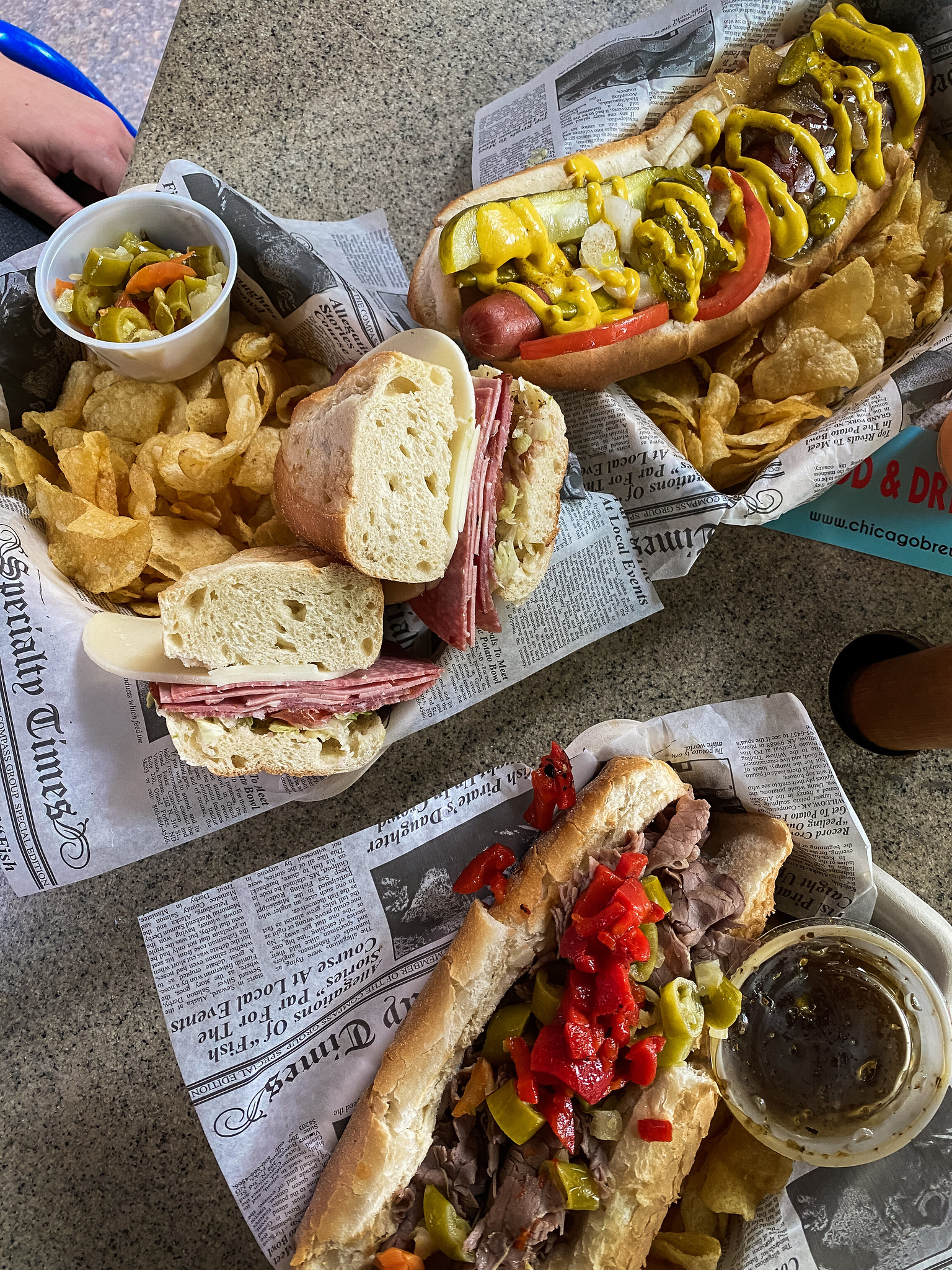 Maxwell Street Split Foot Long Hot Dog & Polish Sausage
