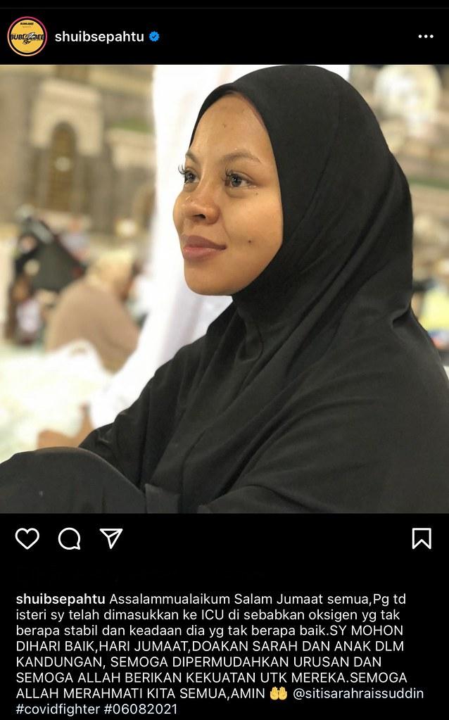 Siti Sarah Dimasukkan Ke Icu, Tahap Oksigen Tak Stabil, Shuib Mohon Semua Berdoa