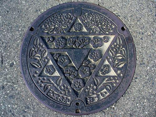 Mimasaka Okayama, manhole cover (岡山県美作町のマンホール)