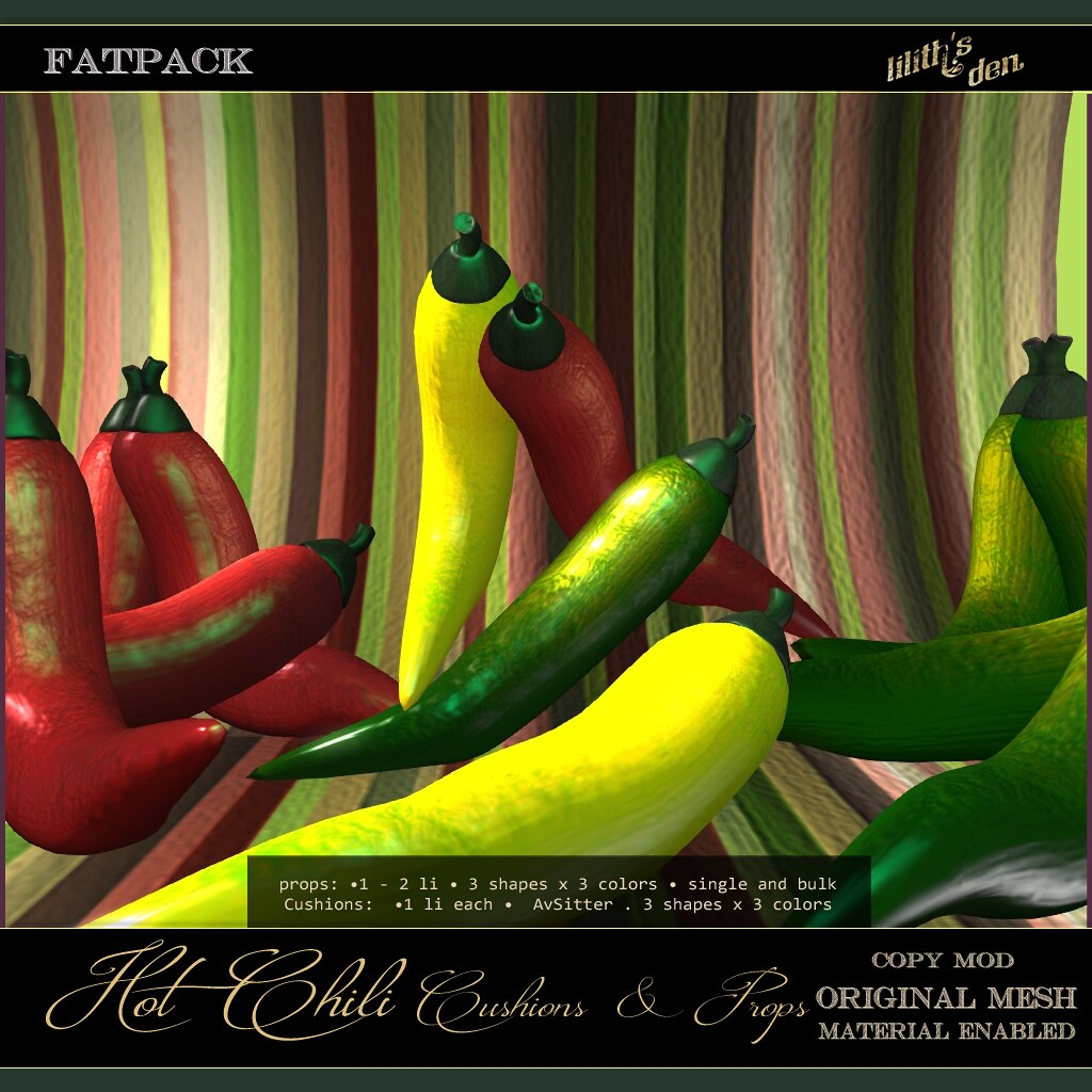 Lilith's Den – Hot Chili Cusions & Props FATPACK