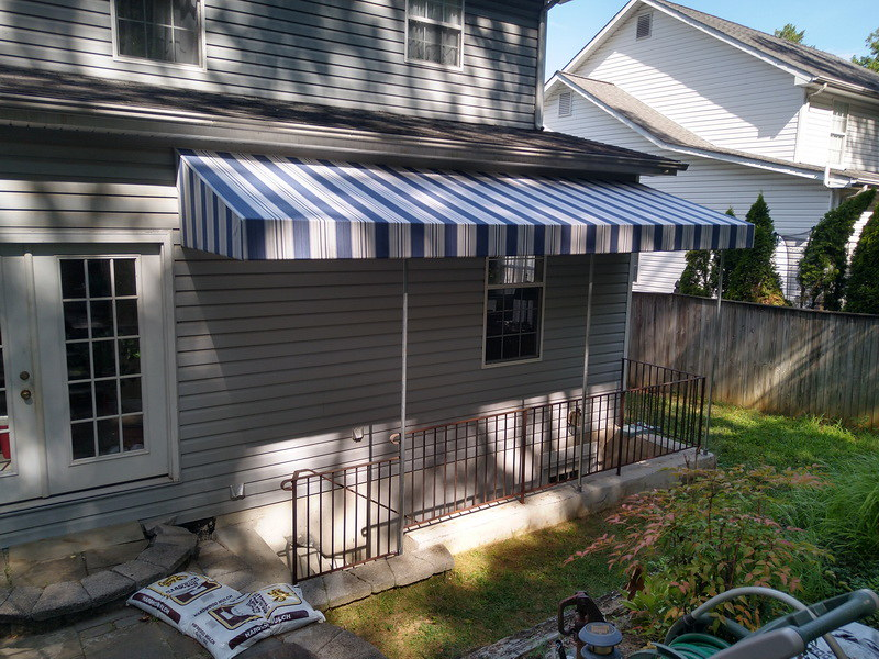 stairwell-awning_basement awning-Hoffman Awning