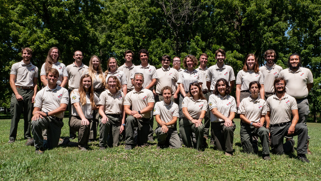 Group photo of Maryland Conservation Corps class
